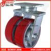 8 Inch Extraindustrielle Doppel-PU-Schwenker-Hochleistungsfußrolle