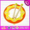2015 Niños Instrumentos Musicales Juguete Tambor de Mano Venta al por mayor, Tambor de Juguete de Percusión de Niños baratos, Tambor de Mano de Juguete de Madera W07j034