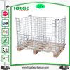 Les conteneurs empilables de pliage de Wire Mesh Cage