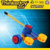 Puzzle educativos de plástico Cannon brinquedo para crianças de blocos de construção