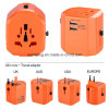 De universele Adapter van de Reis met 2 USB 2500mA, Stop UK/USA/Aus/EUR