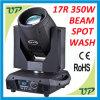 17r 350W bewegliches Hauptstadiums-Licht des Träger-Wäsche-Punkt-3in1