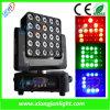 éclairage mobile du DJ de têtes de 25X12W RGB-W Matrix