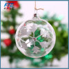 Ornamentos de cristal de la bola de la Navidad del claro del 100%