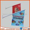Negozio che fa pubblicità alle bandierine esterne decorative della parete del PVC 440GSM