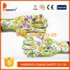Ddsafety 2017 PVC sem emenda do projeto da flor de 13 calibres pontilha luvas