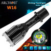Buceo Antorcha impermeable profesional IP68 de aluminio del CREE LED