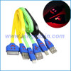 iPhone 4 (KCS-3001-002)를 위한 다채로운 편평한 빛난 미소 USB 2.0 케이블