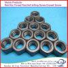 Noix galvanisées de tête Hex d'acier du carbone de la classe 4.8-12.9