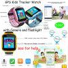 Segurança piscando o GPS Tracker Assistir para criança/filhos com a câmara D26c