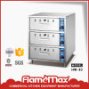 3-tiroir en acier inoxydable de la nourriture plus chaudes (HW-83)