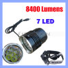 7 LED CREE LED Headlamp met 8400 Lumens