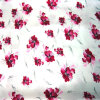 印刷された繭紬の生地-3