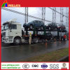 De kabel bindt de Vrachtwagen van de Auto-carrier van Twee Assen Vast