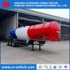 3 acoplado ácido sulfúrico del tanque de la forma de V 20m3 del acoplado del tanque del ácido del árbol para Zambia