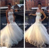 Layered Tulle Wedding Dress Mermaid Lace Bodice Bridal Gown W15247