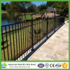 Flush Bottom Rail Yard Security Ornamental Iron Fence Panel
