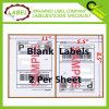 2 hoja Self Adhesive Shipping&Mailing Blank Label para UPS Federal Express Paypal de Usps