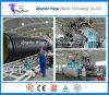 Máquina ondulada da tubulação do enrolamento plástico enorme do diâmetro, linha de produção da tubulação de Krah