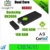 Ug802 verdoppeln androider Bohne 4.22jelly Mini-PC Google der Kern-Rk3066 aktualisierte Versions-Mk808 intelligente Fernsehapparat-Kasten-Rinde A9 HDMI 1080P Mk802III