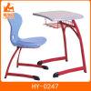 Mesa da escola do frame da cor vermelha de preço de fábrica com parte superior ergonómica