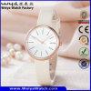 Montre-bracelet de dames de quartz de courroie en cuir de mode (Wy-126B)