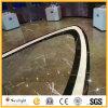 Plancher de marbre chinois matériel bon marché construction grise/grise, tuiles de mur