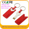 De cuero de memoria USB pluma del flash de 16 GB USB Key (EL004)