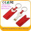 Lederner USB-Speicher-Stock-Blitz-Feder-Laufwerk 16GB USB-Schlüssel (EL004)