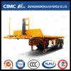 Cimc Huajun 2axle 20FT 후방 Tipping Flatbed Container Semi Trailer