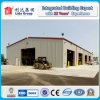 La estructura de acero de la planta de procesamiento de madera