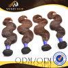 브라운 색깔 Malaysian 바디 파 머리 직물
