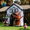 Nachtdekorativer Halloween-aufblasbarer Geist-Bogen-Eingang für Partei-Ereignis