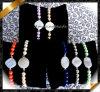 Armbanden van het Agaat Druzy van de Juwelen van de manier de In het groot met de Parels van de Parel (LW055)