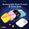 Banco recarregável 2400mAh F6001 do poder do aquecedor da mão