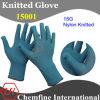 15g Темно-синий нейлон трикотажные перчатки с черным Over Блокировка