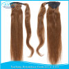 Human Hair Drawstring Ponytailsの人間のHair Ponytail 100g 120g Straight Virgin Human Hair Ponytail Extensions Clip
