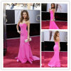 Elegantes pinkfarbenes Nixe-Satin-Abend-Kleid (T10457)