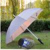 Guarda-chuva reto ao ar livre de piscamento creativo colorido do diodo emissor de luz