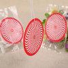 Forma redonda de papel perfumado colgando Ambientador de coche (YH-AF509)