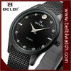 Relógio de pulso ocasional das mulheres do indicador análogo de negócio da forma de Belbi