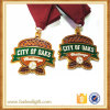 Soft enamel recuerdos de la medalla de metal Metal medallones de deporte