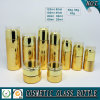 Bouteilles en verre de empaquetage d'or de produit de beauté et chocs crèmes