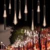 Lâmpada de chuveiro de meteoros de Natal ao ar livre do diodo emissor de luz