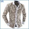 Chemise classique de fleur de long col roulé de chemise pour les hommes