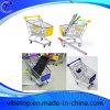 Carro do armazenamento do trole da compra do supermercado do aço inoxidável mini