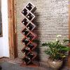 12 Flaschen-Fußboden-Standplatz vergitterte hölzerne Wein-Zahnstange