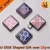 Kundenspezifisches Abdeckung-Schwenker-Quadrat USB-Blitz-Laufwerk für intelligente Geschenke (YT-Quadrat)