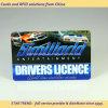 Cartões de Tarja Magnética com código de barras feitos de PVC como carta de condução