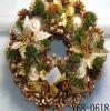 クリスマスの装飾のハンドメイドの木の花輪(JG653)